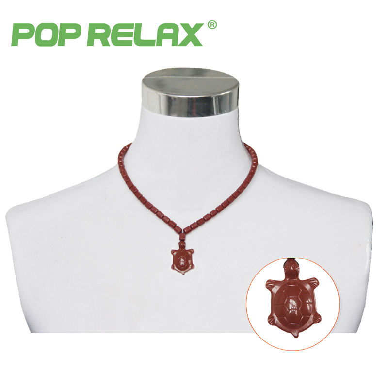 POP RELAX Korea bio germanium tourmaline stone necklace negative ion health care physiotherapy long life turtle energy necklace pop relax negative ion magnetic therapy tourmaline mat pr c06a 55x120cm ce