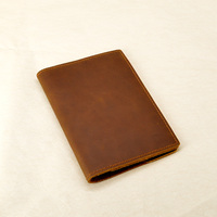 Genuine Leather Passport Cover Travel Vintage Case For Passport Luxury Handmade Covers For Passports Crazy Horse