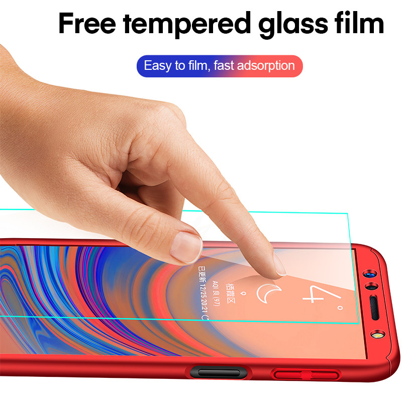 Image 5 - Luxury 360 Full Cover Case For Samsung Galaxy A8 A6 Plus Protective Case For Galaxy J4 J6 J8 2018 A7 A5 A3 2017 2016 Phone Case-in Half-wrapped Cases from Cellphones & Telecommunications