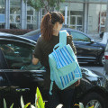 20L light blue stripe backpack thermal cooler bag waterproof picnic insulated ice bag free shipping