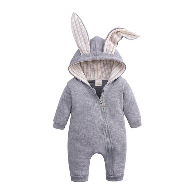 Thick Warm Infant Baby Rompers Winter Clothes 4 Colors Newborn Baby Boy Girl Jumpsuit Long Sleeve Hooded Kids Toddler Romper