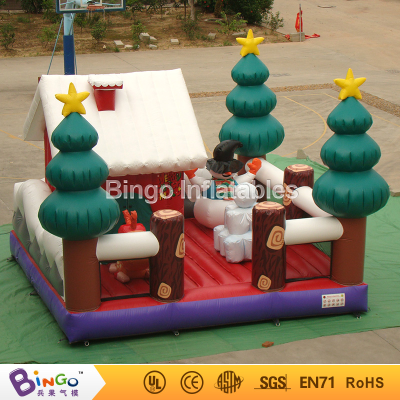 Christmas inflatable bouncing castle with christmas snowman factory direct sale BG-A0853-6 toy цены