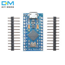 Pro Micro ATmega32U4 5V 16MHz Vervangen ATmega328 Voor Arduino Pro Mini Met 2 Rij Pin Header Voor Leonardo mini Usb-Interface(China)