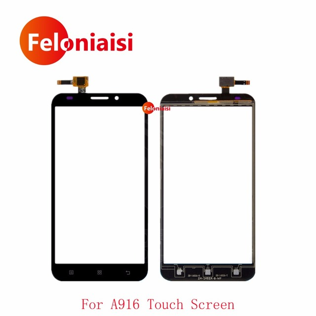 "10Pcs/lot High Quality 5.5"" For Lenovo A916 Touch Screen Digitizer Sensor Front Glass Lens Panel Black White+Tracking Code"