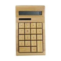 12 Digits Display Artis Large Chunky Natural Handmade Crafted Bamboo Solar Power Calculator