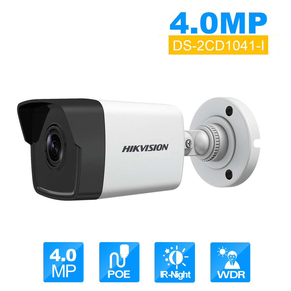 Hikvision DS-2CD1041-I 4MP ip camera Home security IP camera Record surveillance cctv webcam poe power supply 8mp ip camera cctv video surveillance security poe ds 2cd2085fwd is audio for hikvision dahua dvr hik connect ivm4200 camcorder