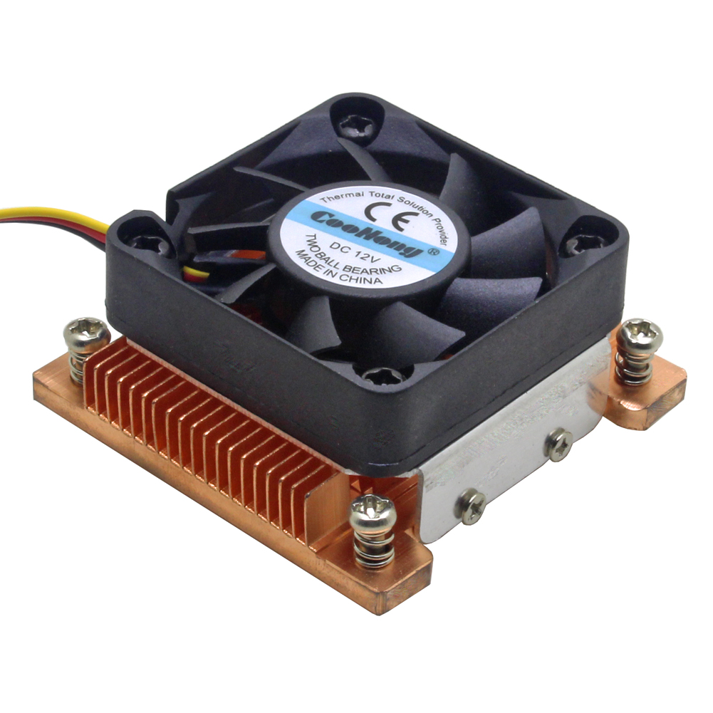 1U server CPU cooler cooling fan Copper HeatSink for Intel Pentium M PGA 478 BGA 479 Industrial computer Active cooling image
