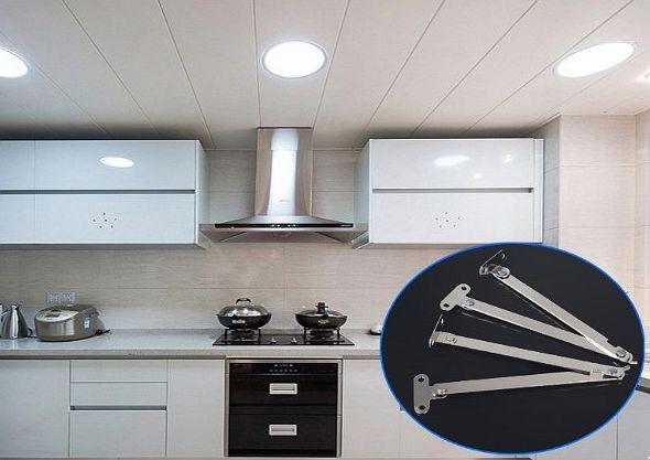 HTB1IJMCavb2gK0jSZK9q6yEgFXap - 2Pcs Stainless Steel Cabinet Cupboard Furniture Doors Close Lift Up Stay Support Hinge Kitchen Furniture Hardware