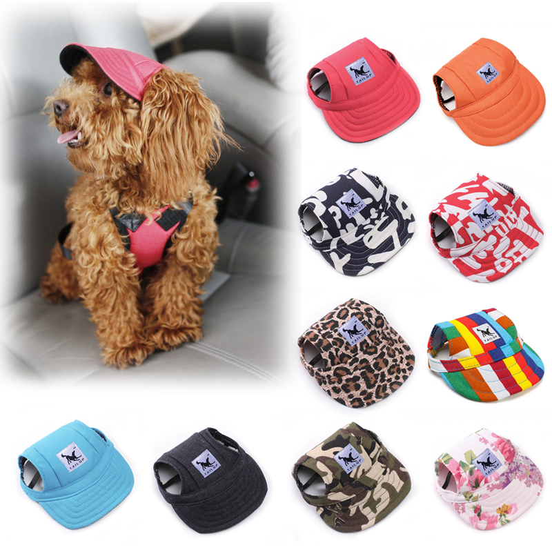 Platno Sport Dog Hat nastavljiva Baseball kapa za malega psa Summer Pet Outdoor Dodatki Hot Pet Products 33