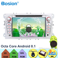 2 Din Android 8.1 Octa 8 Core Car DVD Player GPS Navigation WIFI 4G for FORD S Max Kuga Fusion Transit Fiesta Focus