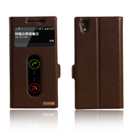Window Smart Cover Case For Lenovo P70 P70T Top Quality Natural Genuine Leather Magnet Flip Stand
