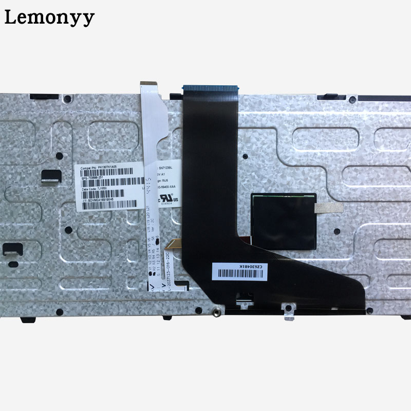 Image 5 - NEW Russian laptop keyboard FOR HP for ZBOOK 15 17 G1 G2 PK130TK1A00 SK7123BL with backlight/Pointer 733688 001-in Replacement Keyboards from Computer & Office on