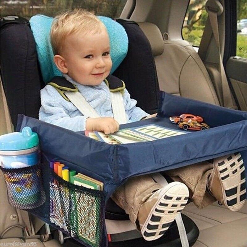 2017 Impermeabile Bambini Bambino Bambino Seggiolino Auto Seggiolino auto Spuntino Giocare Vassoio di Viaggi Tavolo Da Disegno Tavolo Auto-styling Dropshipping