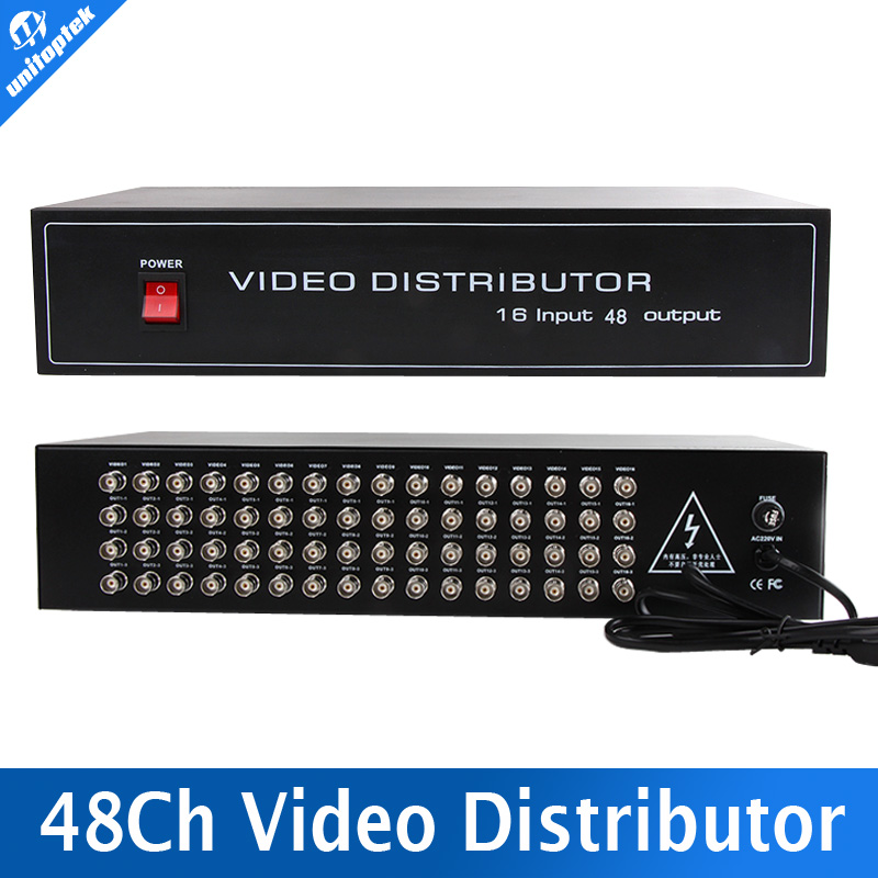 16 To 48CH Video Splitter/HD Distributor BNC 16Pcs Input 48Pcs Output,Support AHD/CVI/TVI Camera In&Out,Distance Max To 600M long sleeve lace pencil sheath dress