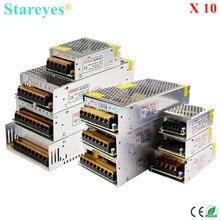 10 шт. адаптер питания Трансформатор AC100-240V к DC12V 1A/2A/3A/5A/6A/8A/10A/12A/15A/20A/25A/30A/40A/50A/60A светодиодный полосы