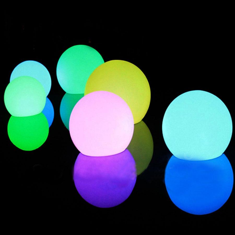 7 krāsu RGB LED peldošās maģiskās bumbiņas led apgaismojuma - Nakts gaismas - Foto 3