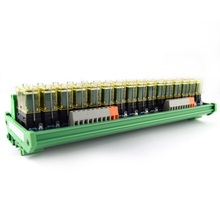 16-way relay double-group module, 24V rail installation, PLC amplifier board control