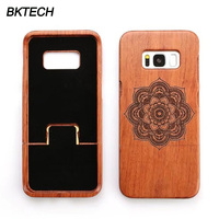 Capa For Samsung Galaxy S8 5 8 Wood Case 100 Original Real Wooden Back Cover Hard