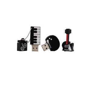 Image 4 - USB flash drive Cartoon Instruments Piano pen drive 4GB 8GB 16GB 32GB 64GB Musical Notes memory stick creative guitar pendrive
