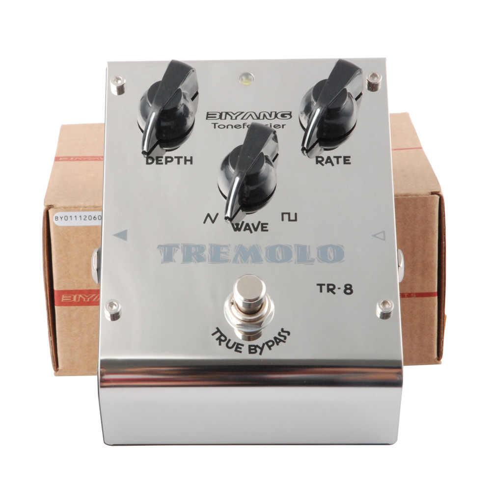 Biyang ToneFancier TR-8 الكهربائية الغيتار باس تأثير دواسة التناظرية اهتزاز 2 موجة شكل ضبط صحيح الالتفافية ل تأثير الغيتار أجزاء