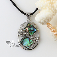 rhombus rainbow abalone oyster shell silver plated necklaces pendants 2013 cheap fashion jewelry