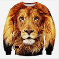 High Quality  Autumn/Winter Men 3d sweatshirts printed animal lion Harajuku hoodies fashion man casual hoodie pullover tops
