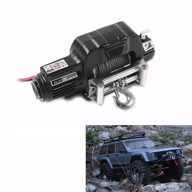 9.5CTI Winch w/ Wireless Remote & Receiver for 1/10 Traxxas TRX4 HSP Redcat RC4WD Tamiya Axial SCX10 D90 Crawler RC Car rc car mini simulated winch with remote controller for 1 8 traxxas hsp redcat rc4wd tamiya axial scx10 d90 hpi rc rock crawler