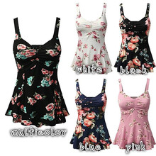 New Fashion Boho Summer 2018 Women's Ladies Floral Print Sle