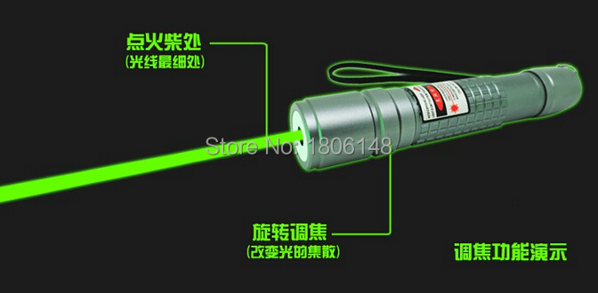 High Quality 10w 100000m 532nm professional Green Laser Pointer Waterproof High Power Lazer Burning Presenter Laser Flashlight