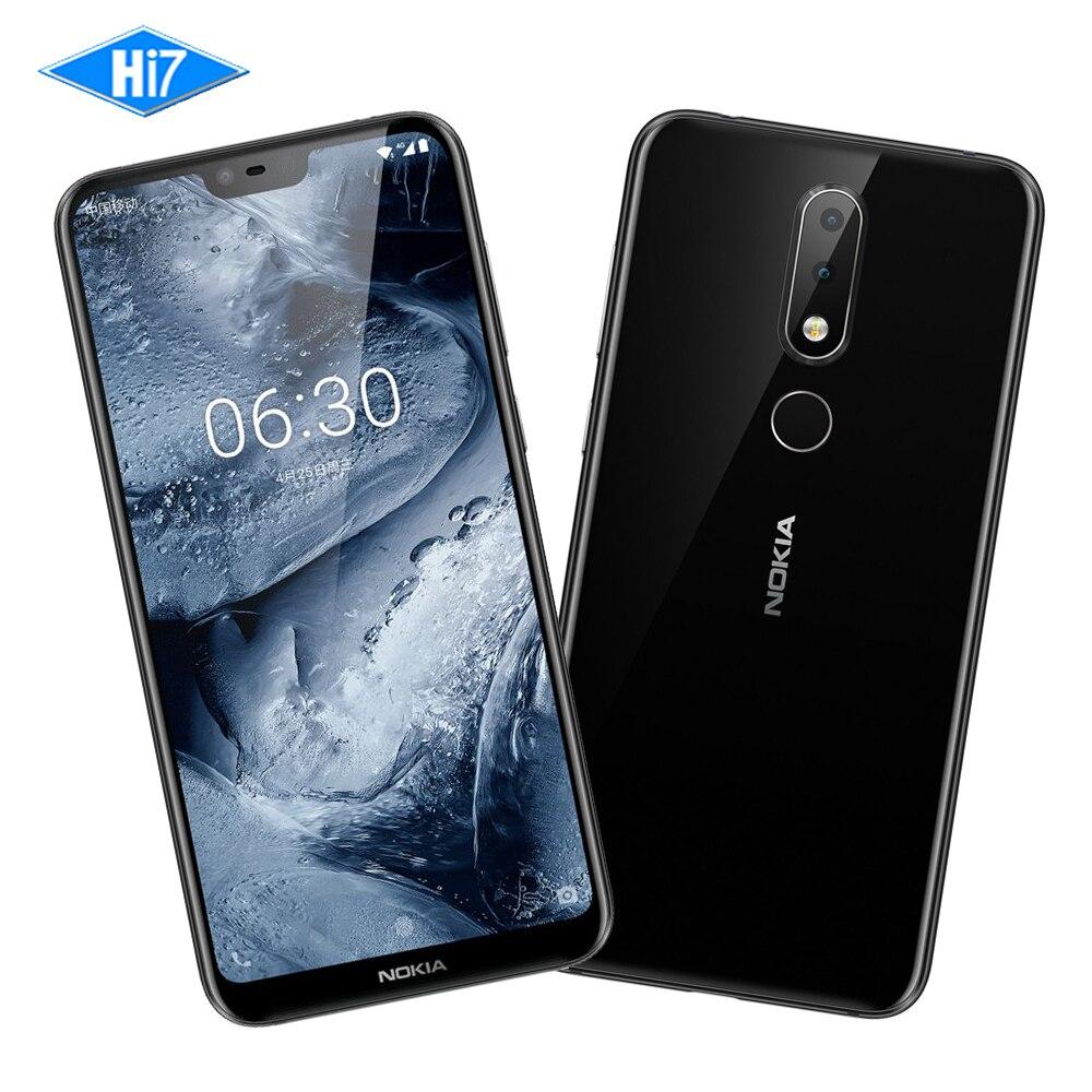 Nouveau Nokia X6 32g ROM 4g RAM 5.8 pouce Octa Core 3060 mah 16.0MP 3 Caméra Double Sim android LTE D'empreintes Digitales Smartphone Mobile Téléphone