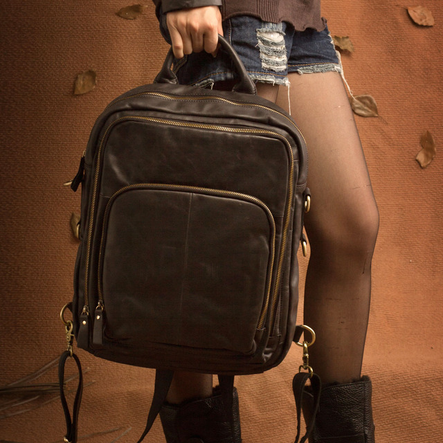 Spring women's backpack female first layer of cowhide multifunctional large capacity double-shoulder female bags