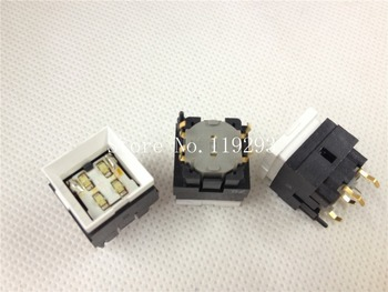 [ BELLA]JAE imported Japanese yellow-green light with LED button switch push button switch microswitch Tact--20pcs/lot