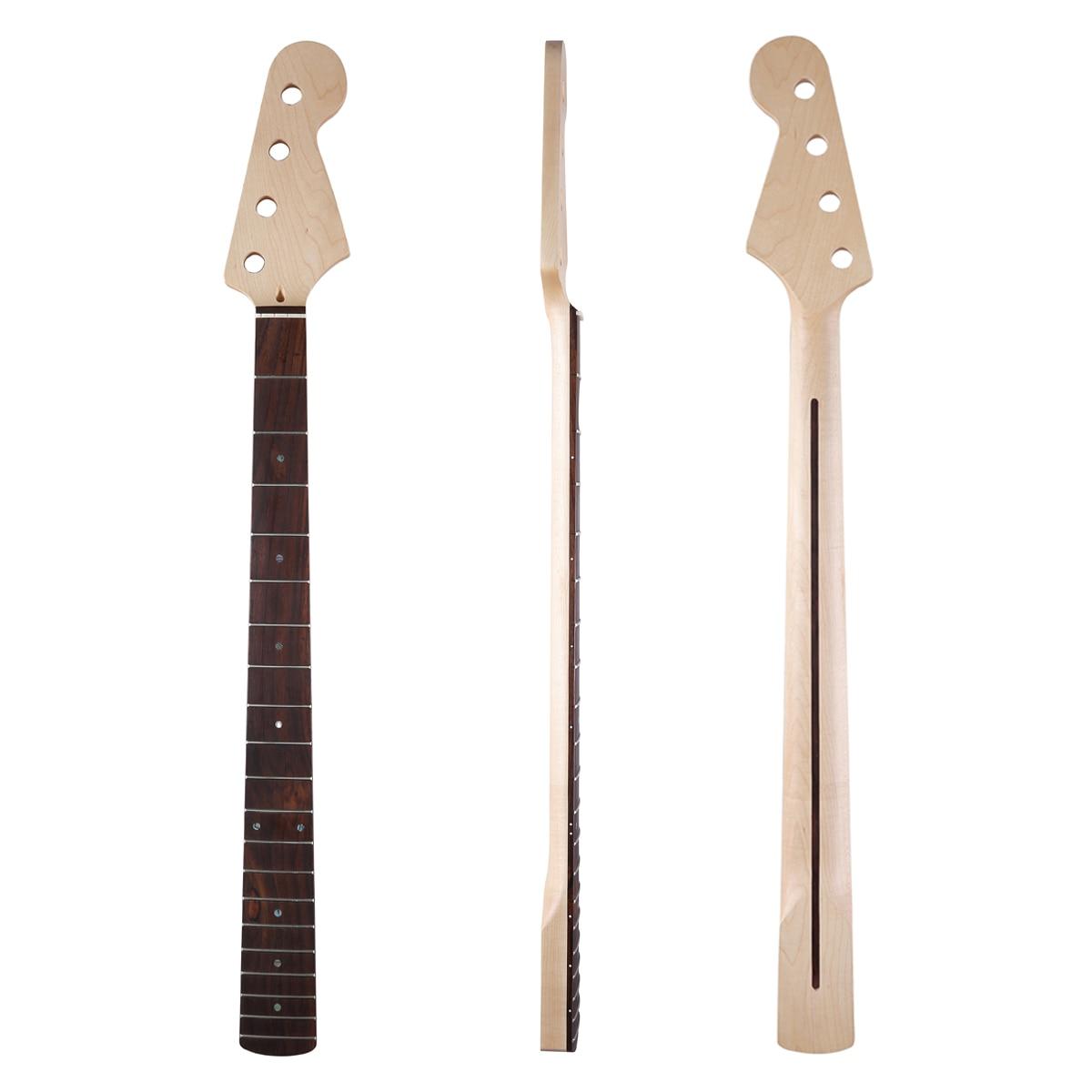 Dopro 20 Frette 4 Cordes Basse P Guitare Érable Canadien cou avec Nacre Inlay et Os Écrou pour Précision basse