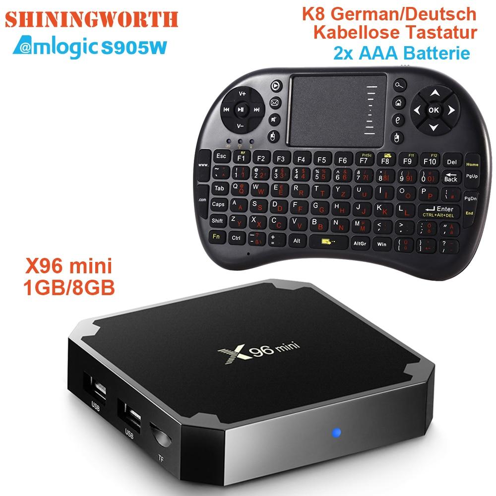 X96 Mini Smart TV Box Android 7 1 Nougat 4000+ Channels Arabic IPTV