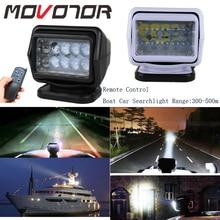 50W Marine Search Light Led Spot Light 12/24V Wireless Spotlight for Boat Trucks Off Road Black/White Housing 360 Rotate 1Pcs