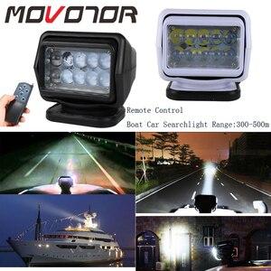 Image 1 - Foco Led de búsqueda marina de 50W reflector inalámbrico, 12/24V, para camiones y barcos, todoterreno, carcasa negra/blanca, rotación de 360, 1 Uds.