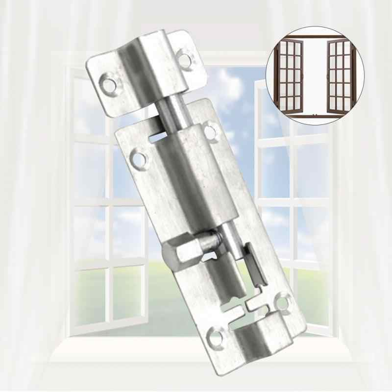 1.5/2/3/4/6 Inch Length Stainless Steel Door Latch Sliding Lock Barrel Bolt Silver Durable Home Decoration Guard Against Theft