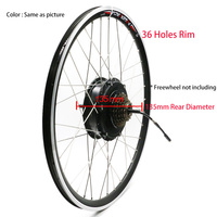 36V 250W 350W 500W Electric Bike motor wheel with rim spokes Rear brushless gear hub motor 6/7 Freewheel suitable V disc brake
