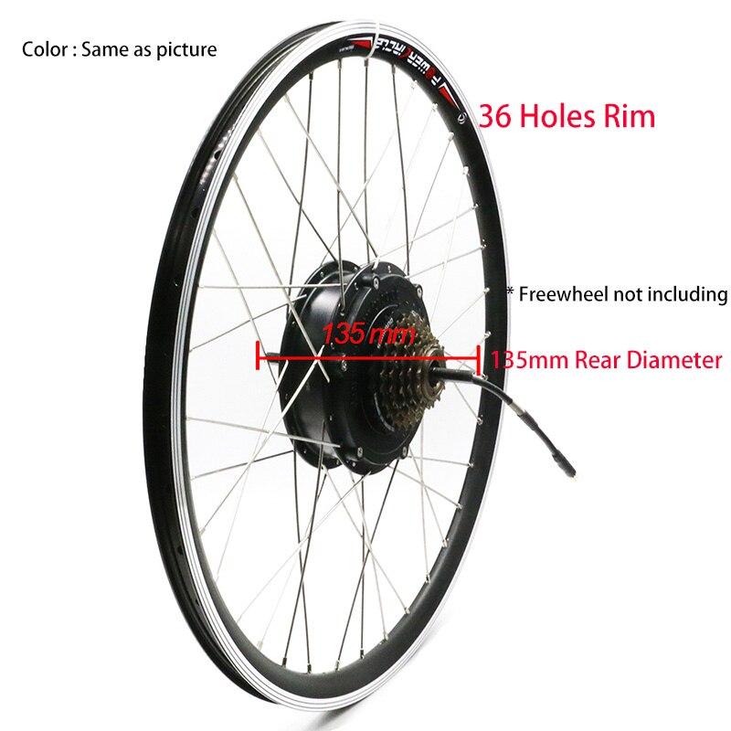 36V 250W 350W 500W silnik do roweru elektrycznego koła ze szprychami obręczy tylny bezszczotkowy silnik piasty zębatej 6/7 Freewheel odpowiedni V hamulec tarczowy
