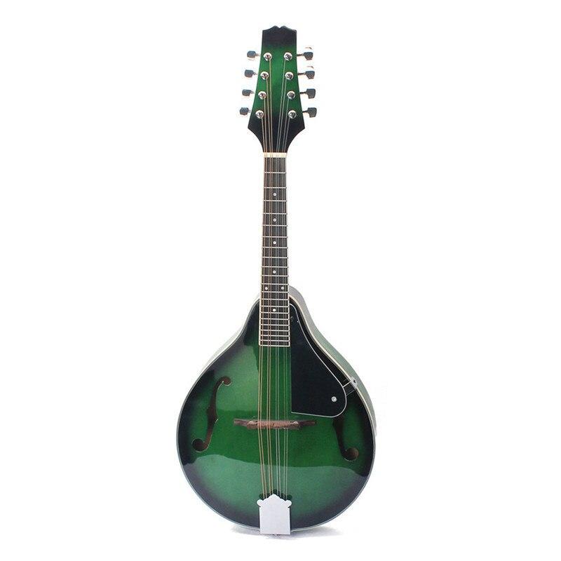 8 cordes F trou mandoline guitare bois un Style Instrument de musique avec chaîne en acier pour Instrument à cordes débutant amoureux cadeau