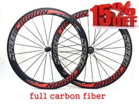 Factory Sale 50mm Full Carbon Wheelset Clincher With Black Novatec 271 Hub Black Spokes Black Nipples