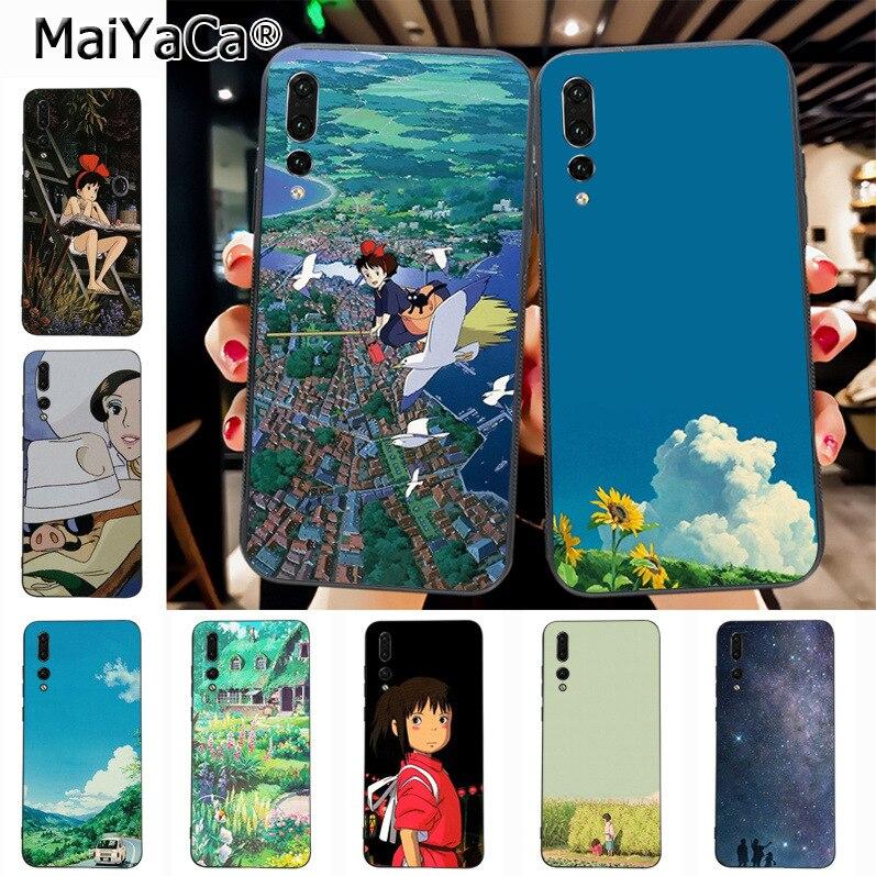 Maiyaca Hayao Miyazaki Animation Newest Fashion Luxury phone case for Huawei P20 P20 pro Mate10 P10 Plus Honor9 cass(China)