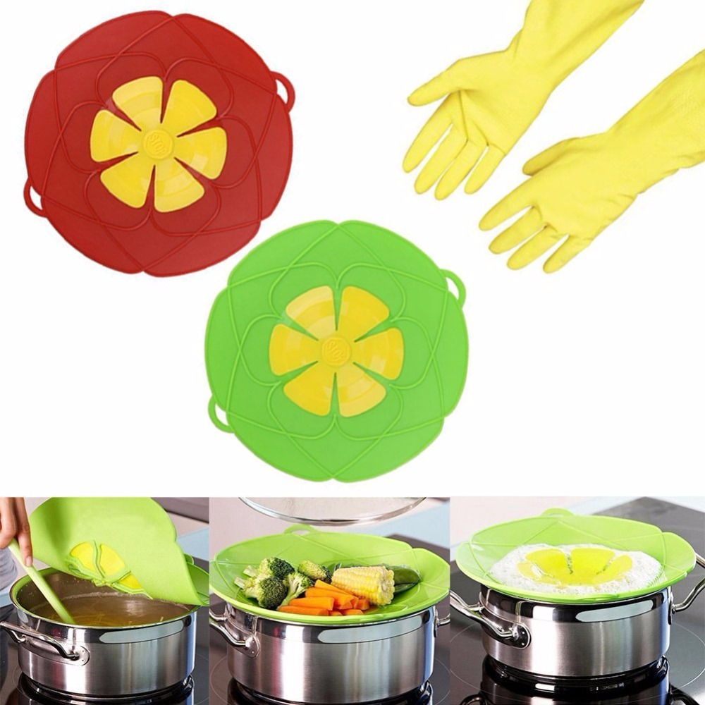 Silicone Spill Stopper Lid Cover And Boil Over Safe Guard Spill Stoppers. Silicone Boil Over Preventer Kitchen Tools Accessories