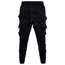 MarKyi fashion harem pants men summer casual 2017 new loose style hip hop with zippers size 3xl