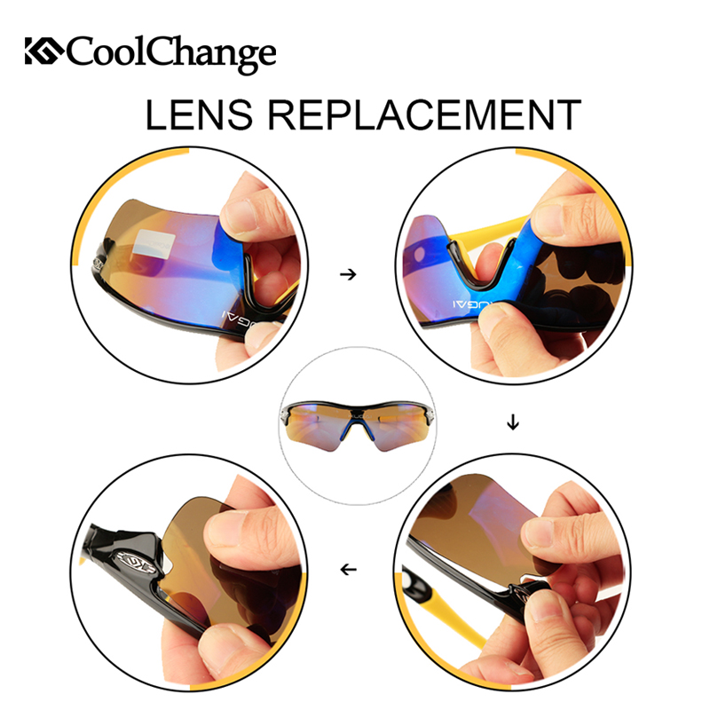 CoolChange Biciklističke naočale Polarizirane sunčane naočale - Biciklizam - Foto 6