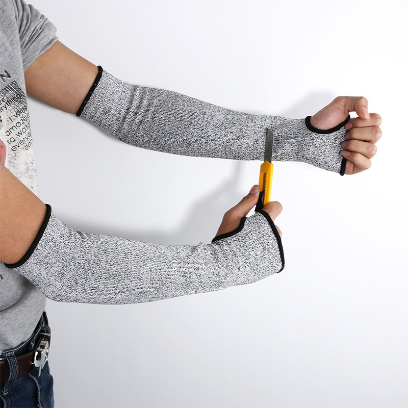 Grey Safety Cut Heat Resistant Sleeves Arm Guard Protection Armband Gloves Workplace Safety Protection safety gloves anti cut
