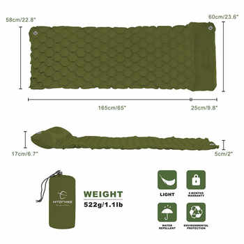 Ultralight Sleeping Pad Air Mattress Inflatable Bed for Tent Portable Outdoor Air Bed Moistureproof Pad Camping Mat Waterproof