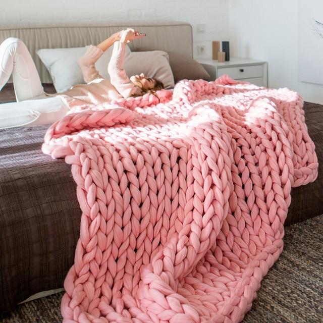 500g Ball 100 Wool 6cm Wool Yarn For Knitting Hand Thick Hand