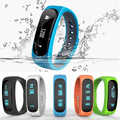 Moda a prueba de agua control de actividad pulsera bluetooth inteligente e02 banda llamada/sms recuerdan reloj deportivo connecte para iphone android