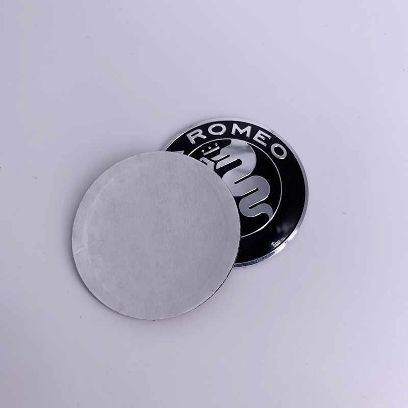 40 Mm 4 Cm untuk Alfa Romeo Auto Mobil Stiker Decal Mobil Steering Wheel Pusat Cap Logo Badge Emblem Kemudi roda Sticker Lencana Logo
